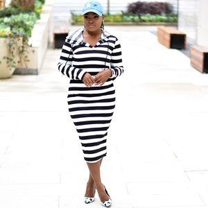 Dresses & Skirts - Black and white hoodie dress